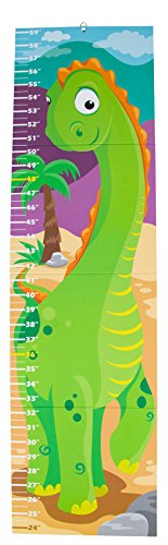 Blue Panda Growth Chart - Dinosaur Height Measuring Chart for Kids, Boys, and Girls, Wall Hanging Ruler for Nursery, Baby Room, Measure Up to 59 Inches