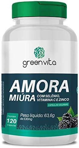 Amora Miura com Selênio, Vitamina C e Zinco Greenvita 120 cápsulas Veganas