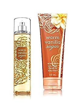 Bath & Body Works Warm Vanilla Sugar Gift Set   Body Cream & Fragrance Mist by Bath & Body Works
