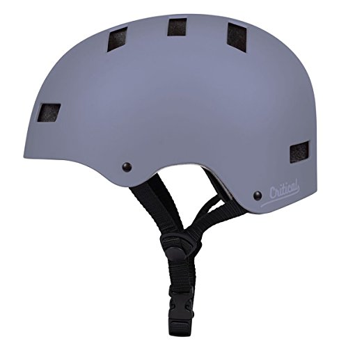 Critical Cycles Classic Commuter Bike/Skate/Multi-Sport CM-1 Helmet with 10 Vents, Matte Slate, Large: 59-63cm / 23.25
