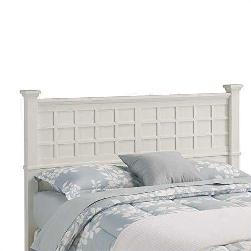 Home Style 5182-501 Arts and Crafts Queen Headboard, White