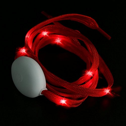 Party Night Hunpta Club Up Nylon Light Luminous Shoelace Red LED Glow Change Shoelaces Colorful Strap O1qdPywHH