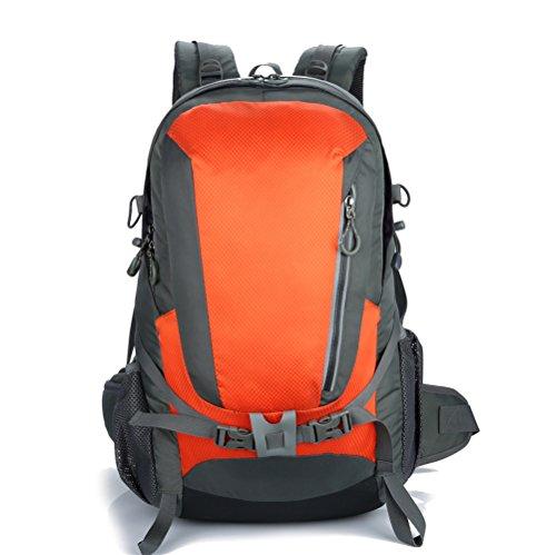 X2X Alpinismo Senderismo mochila impermeable bolsa de hombro al aire libre portátil deportes mochilas 40L (1Verde) 2Naranja