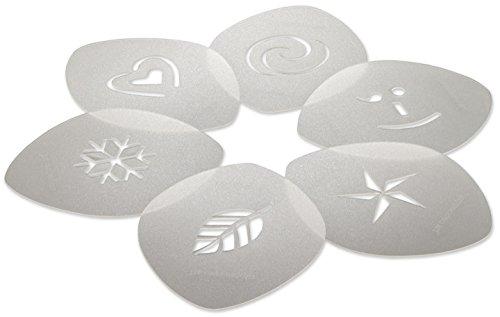 cino Stencil Set, For Latte Coffee Art, Set of 6 Stencils ()