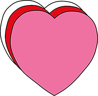 """product image for 2"""" Heart Small Tri-Color Creative Cut-Outs, 31 Cut-Outs in a Pack for Kids' Love and Peace School Craft Projects, Valentine's Day Craft."""
