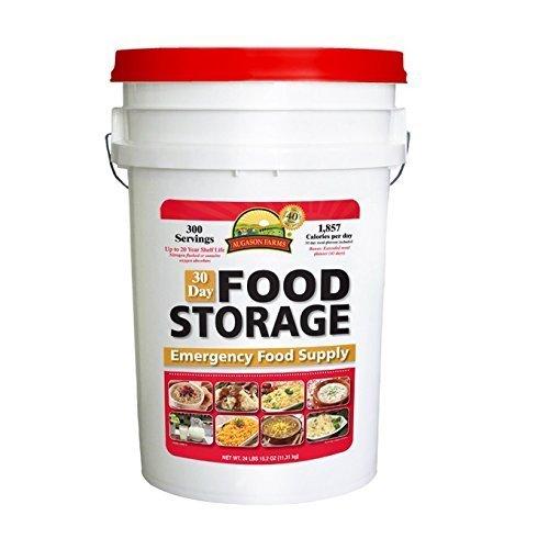 Augason Farms 30 Day Food Emergency Disaster Bucket, 1 Person, 20 Year Storage Shelf Life by Augason Farms by Augason Farms