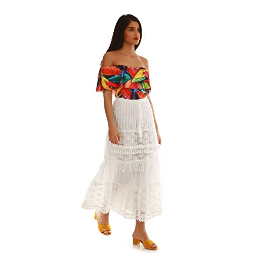 Falda La Mujer Para Blanco Modeuse qTUwWnH7wO