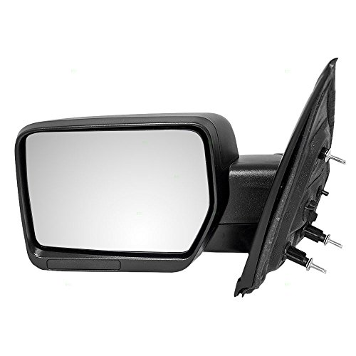 Drivers Manual Side View Mirror Pedestal Type Textured Replacement for Ford Pickup Truck 9L3Z 17683 AA