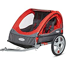 Instep Take 2 Kids/Child Bicycle Tow Behind Trailer, Green Foldable 2 Passengers