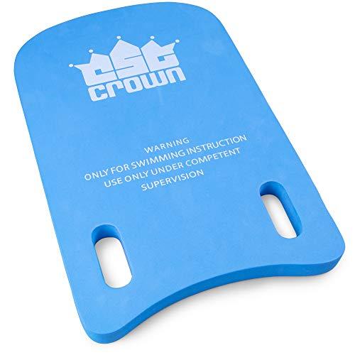 Swim Kickboard - Swimming Board with Handles - Swim Training Aid Kickboards for Adult & Kid Swimmers - Lightweight, Kid-friendly Safe EVA Foam Exercise Equipment for Pools & Swim Teams (Blue & White)