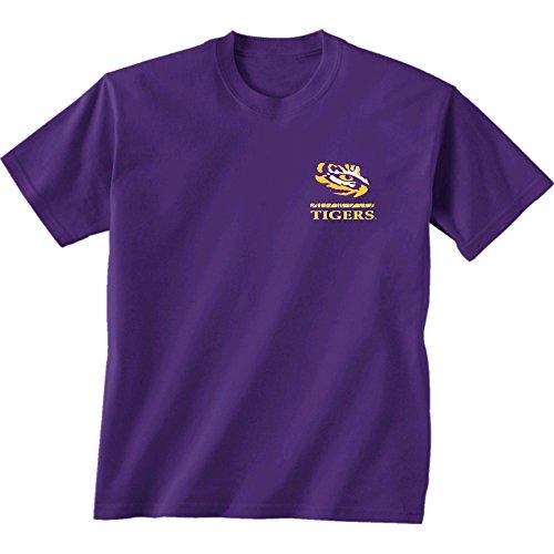 New World Graphics NCAA Lsu Tigers Team Mosaic Short Sleeve Shirt, Medium, - Shirt Mosaic