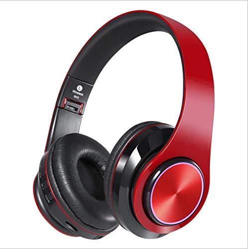 TAOMM ワイヤレス Bluetooth スポーツヘッドホン Hi-Fi ステレオ オンイヤーイヤホン マイク付き 折りたたみ式 12時間再生 (軽量で快適&高速ペアリング), レッド, 644-219-420 B07PP399K6 レッド