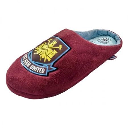 cb45b4f241dd West Ham United FC Slippers (Claret Mule - UK 5 6   EU 38 39)  Amazon.co.uk   Kitchen   Home