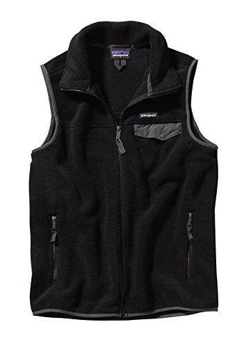 Patagonia Lightweight Synchilla Snap-T Vest - Men's Black/Forge Grey (Patagonia Lightweight Vest)