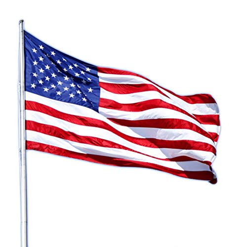 ATHX American Flag 2x3 ft. - Embroidered Stars - Sewn Stripes - Brass Grommets - UV Protected - 240D Heavyweight Oxford Nylon Built for Outdoor Use (2x3 USA Flag)