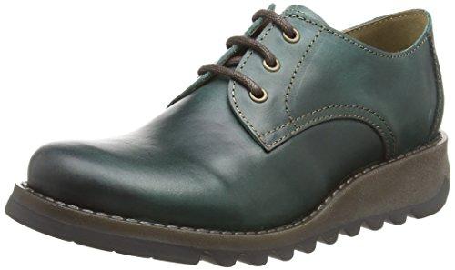 005 Fly Brogue Zapatos De Mujer Cordones Simb389fly London Verde Para petroleo XHvqBrH