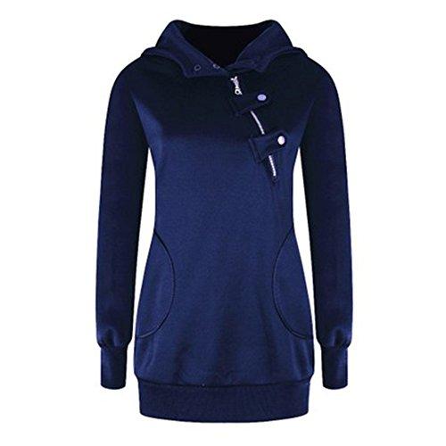 Juleya Sweat-shirt à capuche Femme Femmes pullover Manteau chaud Chemise en coton à manches longues Veste à capuche Pulli Tops Sweatshirt 13 Couleurs S-2XL