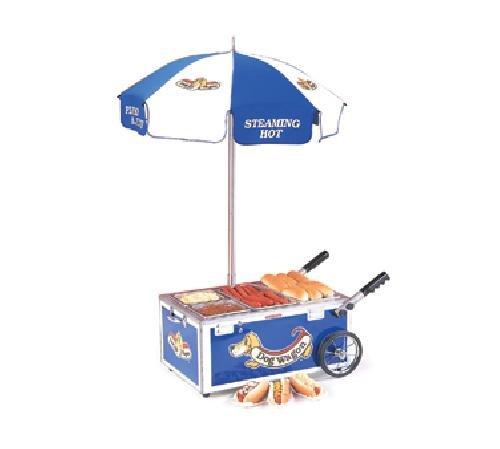 Nemco 6550-DW Mini Hot Dog Steamer Cart