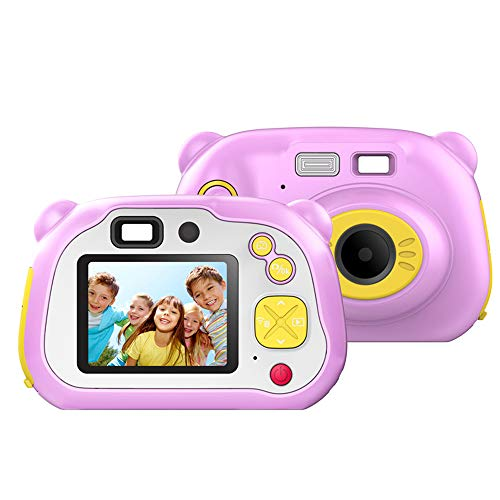 155 Food Display - Andoer WiFi Kids Digital Camera Children Creative Camera 4K 12MP Food Grade Material Mini Video Camcorder with 2 Inches Color LCD Display Auto Focus WiFi Real-time Share for Children Kids Holiday