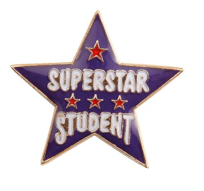 Pack of 10 Superstar Student Lapel -