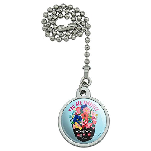 Purrrfect Cat (GRAPHICS & MORE You are Purrrfect Perfect Cat Ceiling Fan and Light Pull Chain)