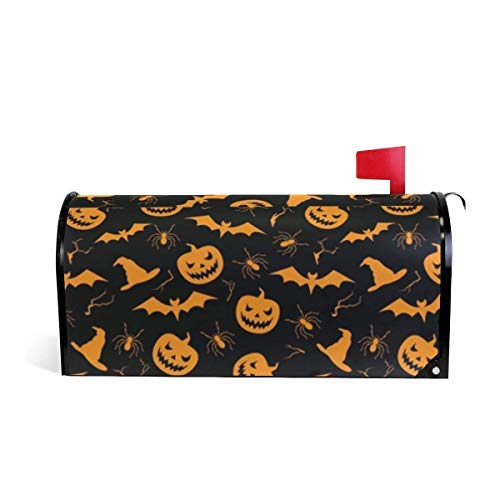 (Tollyee Mailbox Cover Magnetic Large Halloween Pumpkin Ghost Bat Mailbox Cover Magnetic Mailbox Cover 9