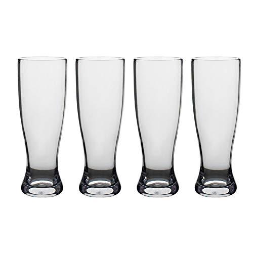 Libbey Infinium Reusable Tritan Plastic Pilsner Beer Glass - 23 oz - Set of 4 (Radeberger Beer)