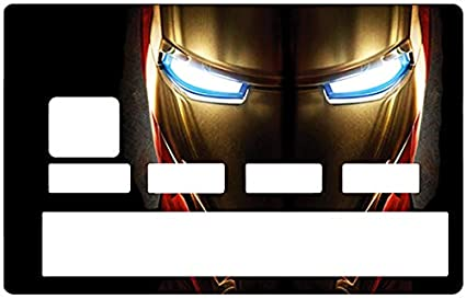 7a032f2bc77 DECO-IDEES Credit Card Sticker, Iron Man - Personalize Your Credit Card  with These Removable Stickers