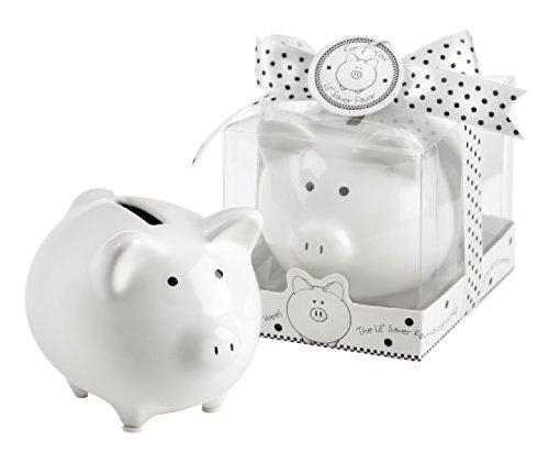 Li ' lセーバーFavorセラミックmini-piggy Bank inギフトボックスwith polka-dot Bow – 16 in total   B00T0OS7N4
