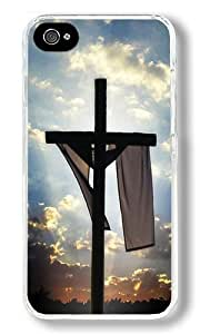 Cross Religious Custom iPhone 5c Case Back Cover, Snap-on Shell Case Polycarbonate PC Plastic Hard Case Transparent