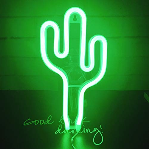 Luz de Neón, Cactus Sign Shaped LED Decoración Luz, decoración de pared para Chistmas, fiesta de cumpleaños, habitación...