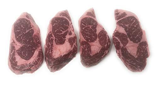 Wagyu American Style Kobe Beef 8 oz. Ribeye Steaks (Count 4 )