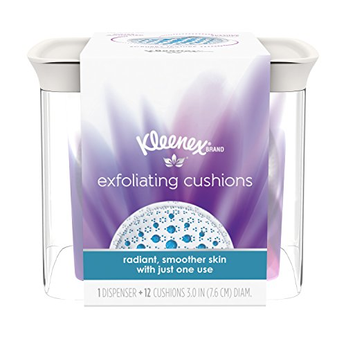 Kleenex Exfoliating Facial & Makeup Remover Pads with Dispenser,  12 Facial Scrubbing Pads (Best Eye Makeup Remover For Sensitive Eyes 2017)