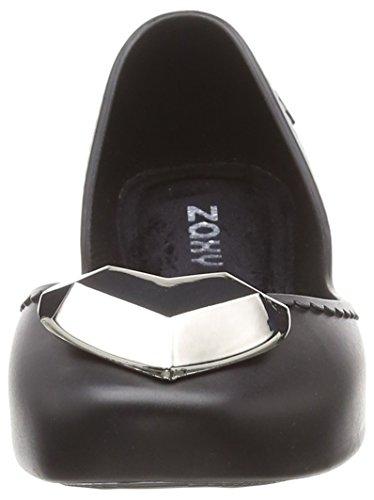 1003 Punta Zaxy Heart Metallic Donna Ballerine Black black Start Chiusa BHzxwHO