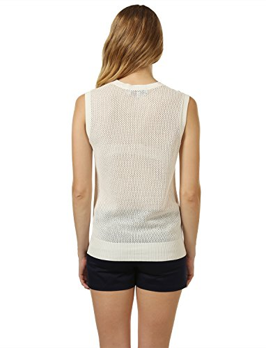 Mossimo Women's Open-Knit Sweater Vest M White by 7 Encounter (Image #1)