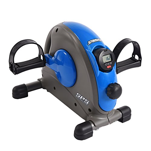 Stamina Mini Exercise Bike with Smooth Pedal System, -