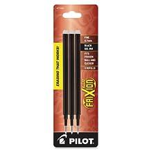 Pilot FriXion Gel Ink Pen Refill, 3-Pack for Erasable Pens, Fine Point, Black Ink -77330