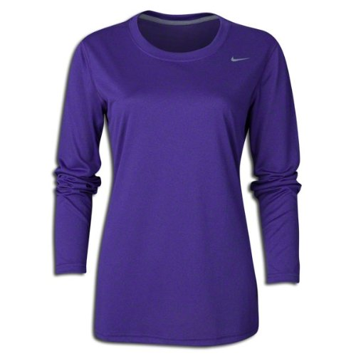 Nike Womens Long Sleeve Legend Shirt PURPLE,Medium