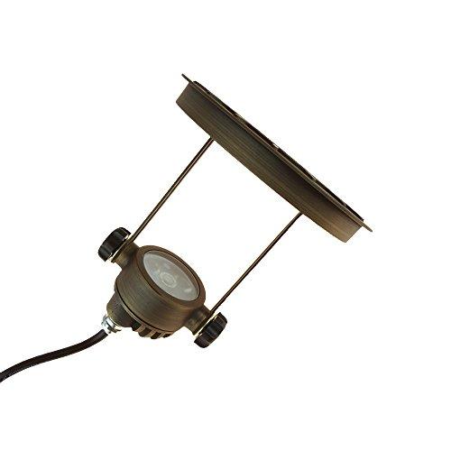 VOLT Lighting Adjustable LED In-Ground Well Light - Low-Voltage - Brass Landscape Light by VOLT (Image #4)