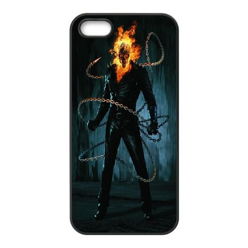 Ghost Rider Chains2 coque iPhone 5 5S cellulaire cas coque de téléphone cas téléphone cellulaire noir couvercle EOKXLLNCD23880