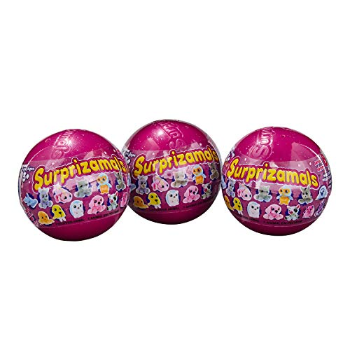 Surprizamals, 3-Pack - Mystery Balls with Collectible Plush Toy (Series 8) ()