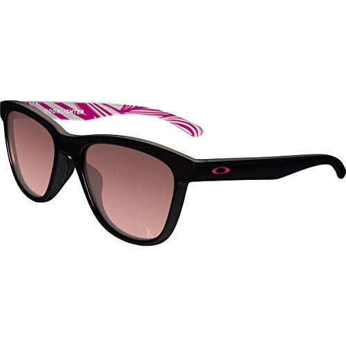 Oakley Women's Moonlighter Polarized Iridium Round Sunglasses, Polished Black, 53.01 - Womens Sunglasses Surf