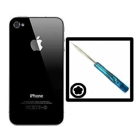 Carcasa trasera de repuesto para cristal de iPhone 4 (incluye destornillador de estrella, el protector debe ser despegado antes de colocar la carcasa)