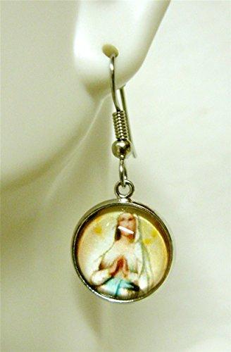 Miraculous medal earrings - AP18-227 ()