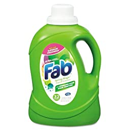 Fab Fab 2X HE Liquid Laundry Detergent, Spring Magic, 50 oz, Bottle - six bottles.