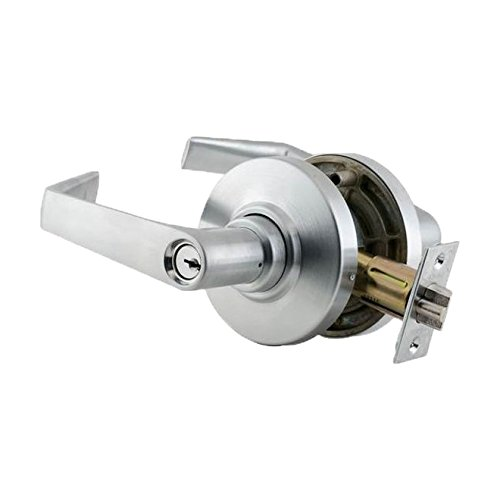 Satin Chrome Finish Saturn Lever Design Storeroom Function Schlage commercial AL80SAT6262 AL Series Grade 2 Cylindrical Lock