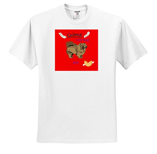 3dRose Chinese New Year - Image Of Chinese New Year With Chow Dog and Fortune Cookie - T-Shirts - White Infant Lap-Shoulder Tee (18M) (TS_262600_68) ()