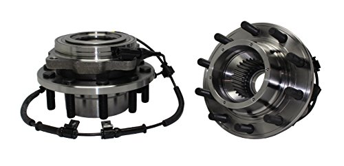 Detroit Axle 515083 Front Wheel Hub and Bearing Assembly for 2005-2010 Ford F-450, 550 Super Duty [4x4, 10 Bolt, w/ABS, Dual Rear Wheel Models] - Set of 2