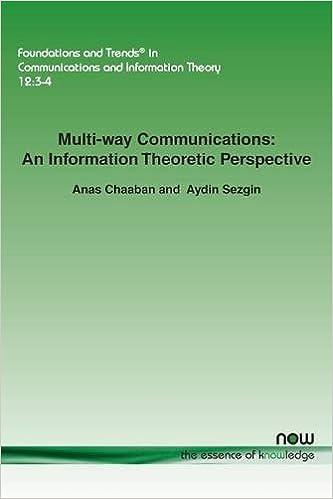 Bildergebnis für Multi-way Communications: An Information Theoretic Perspective