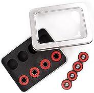 Senston Ceramic Skateboard Bearings High Speed Double Shielded 608 RS ABEC-11 8 Pack Set for Skateboard Trucks